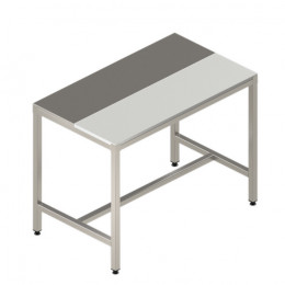 Cutting table with mixed top (stainless steel and polyethylene)