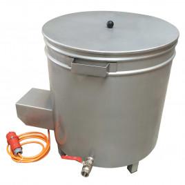 Manual wax dip tank