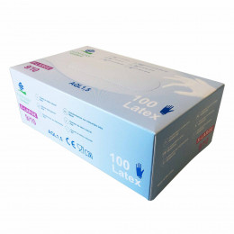 Disposable blue latex gloves - case of 1000 units